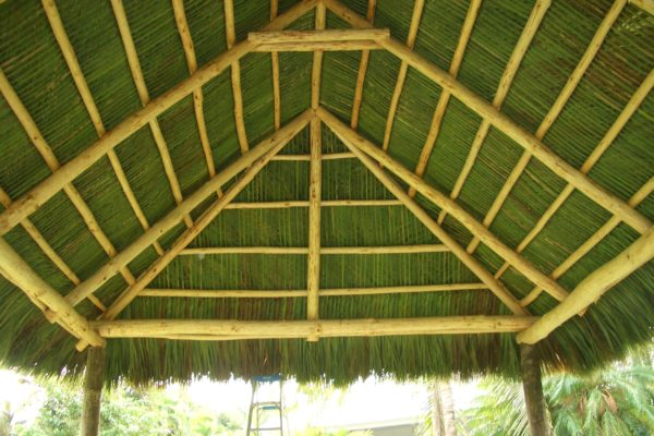 tiki hut green interior