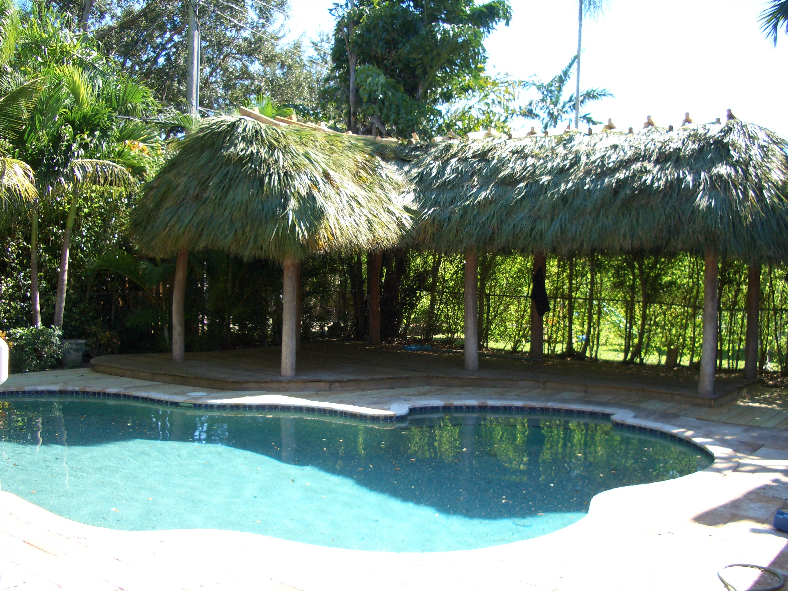 tiki hut by the pool