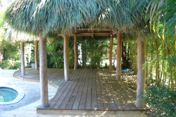 Pinecrest Tiki Hut and Deck
