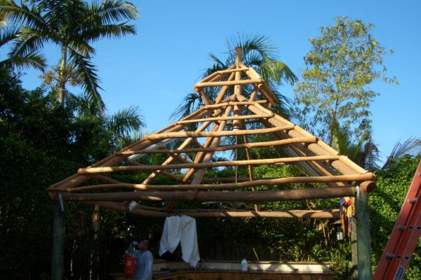 pyramid tiki hut roof