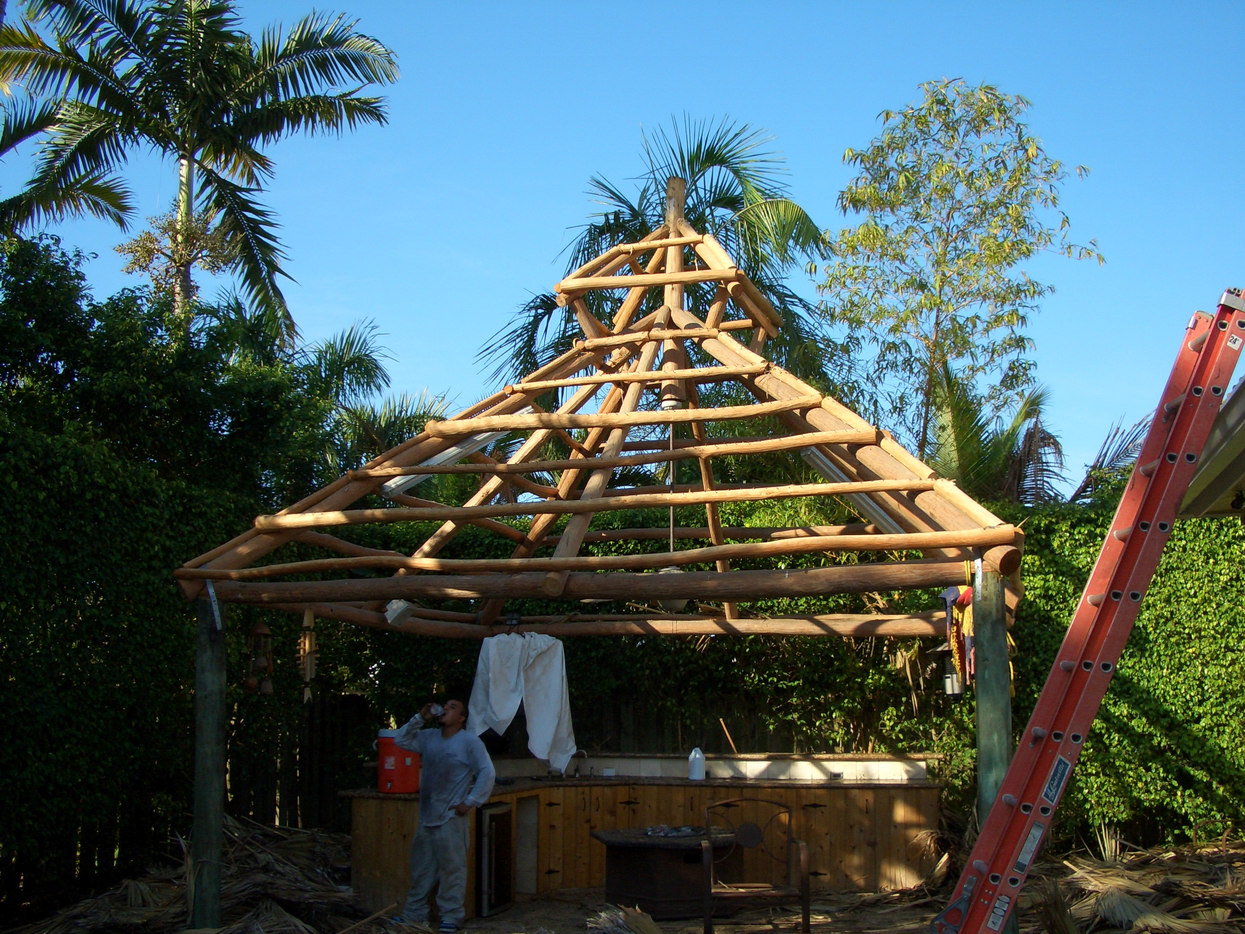 south florida tiki hut builder