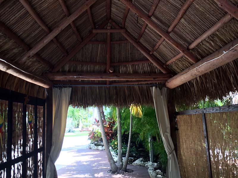 tiki hut drapes entrance