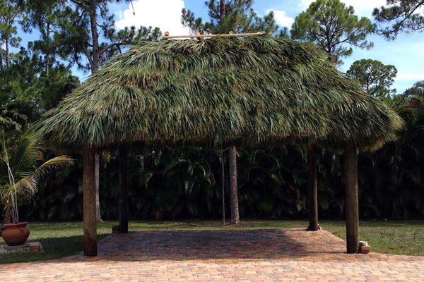 large home tiki hut