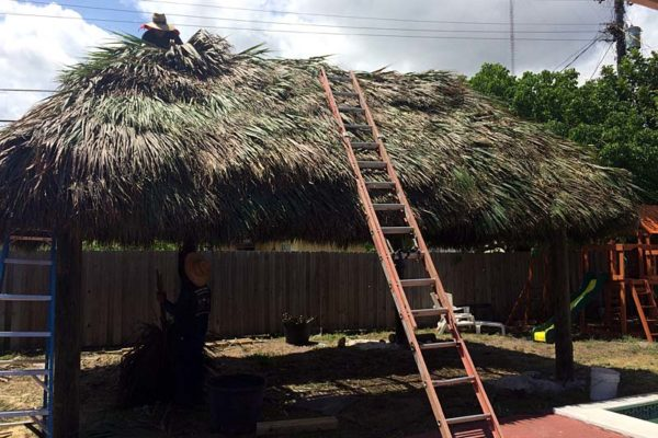 roofing tiki hut repair