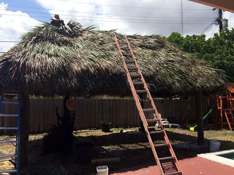 roofing tiki hut repair
