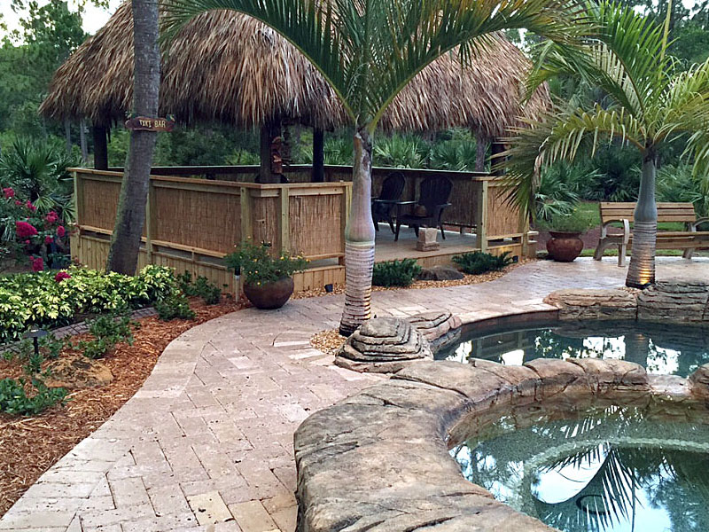 residential custom made tiki hut south florida