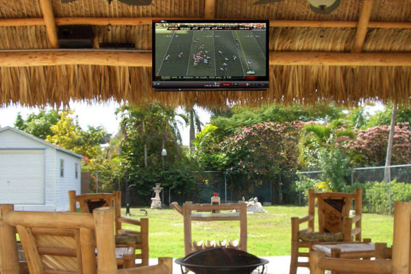 residential tv bar tiki hut