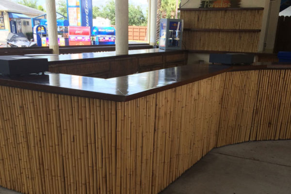 tiki hut bar counter tops