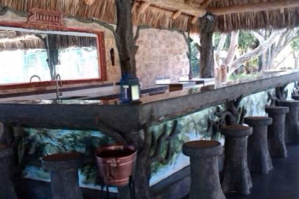custom made tiki hut bar