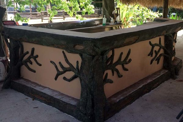 custom designed tiki hut bar